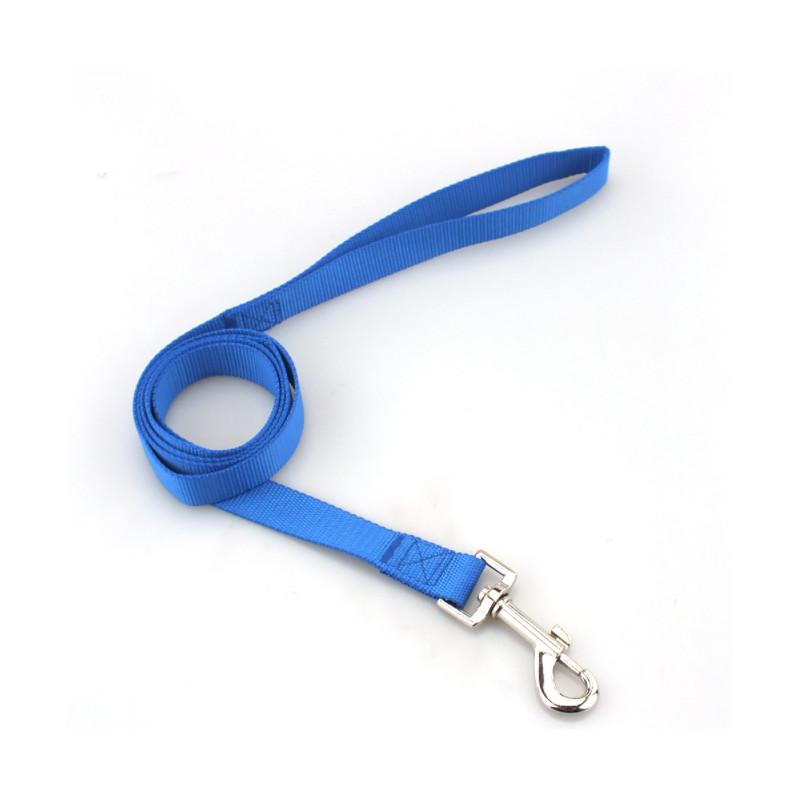 Mocna SMYCZ TAŚMOWA dla Średniego Psa roz. M - 120cm PETSTORY (Niebieski)