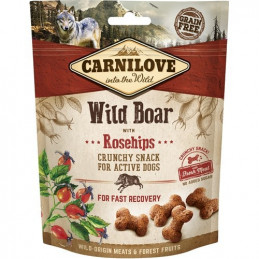 CARNILOVE CRUNCHY SNACK WILD BOAR WITH ROSEHIPS WITH FRESH MEAT 200g
