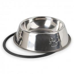 PETSTORY Miska Metalowa dla Psa Kota na Gumie 300ml