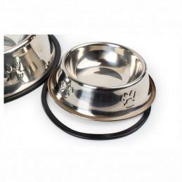 PETSTORY Miska Metalowa XL dla Psa na Gumie 1,5L