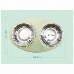 Miska Podwójna Metalowa dla Psa z Podstawką 2x350ml PETSTORY (Różowy)