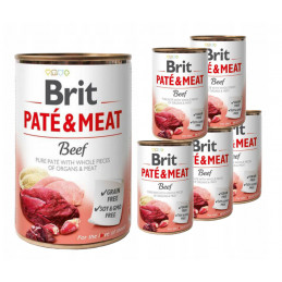 Brit Pate&Meat Beef WOŁOWINA 6 x 400g