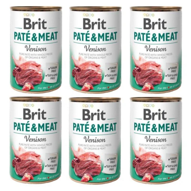 Brit Pate&Meat Venison DZICZYZNA 6x 400g