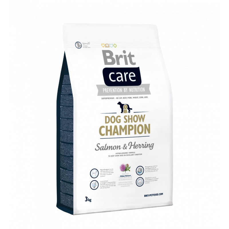 Brit Care Dog Show Champion SALMON & HERRING 3 kg