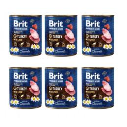 Brit Premium By Nature Indyk TURKEY WITH LIVER 800g Zestaw 5+1