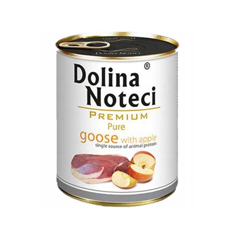 Dolina Noteci Premium Pure BOGATA W GĘŚ Z JABŁKIEM 800g