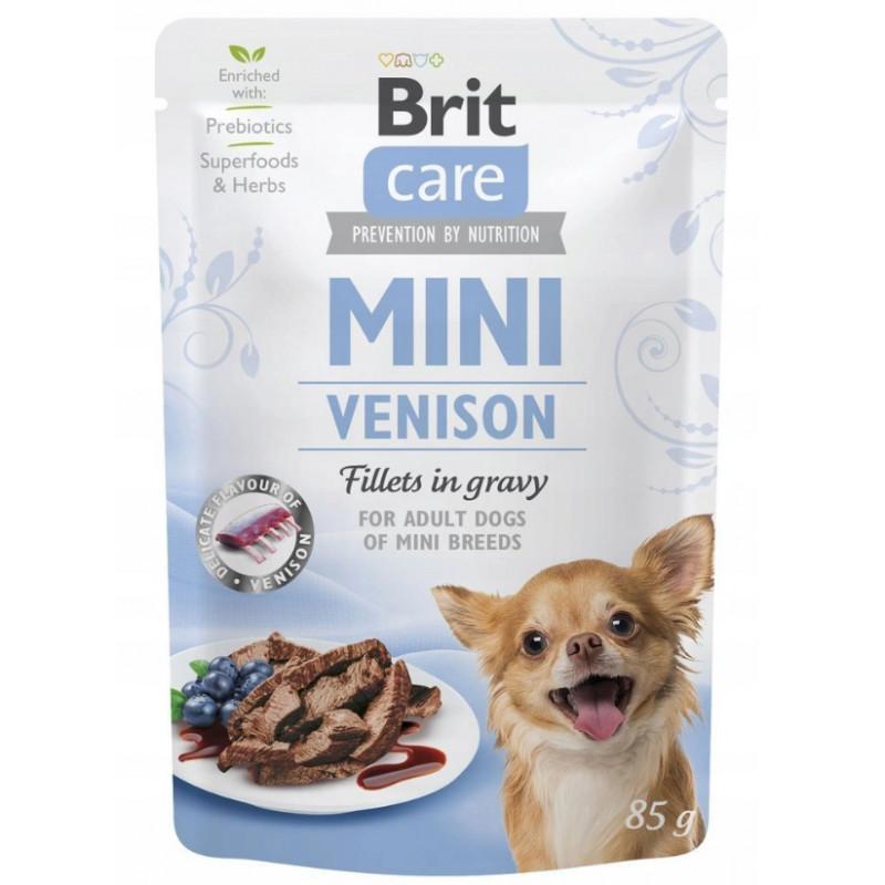 Brit Care Mini Venison Fillets in Gravy DZICZYZNA 85g