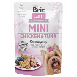 Brit Care Mini Chicken Tuna Fillets in Gravy KURCZAK TUŃCZYK 85g