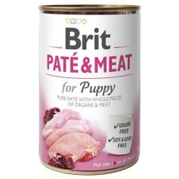 Brit Pate & Meat Dog Puppy KURCZAK I INDYK 400g