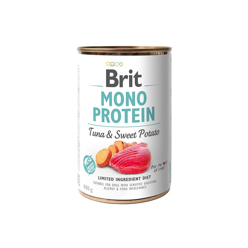 Brit Mono Protein Tuna & Sweet Potato TUŃCZYK 400g