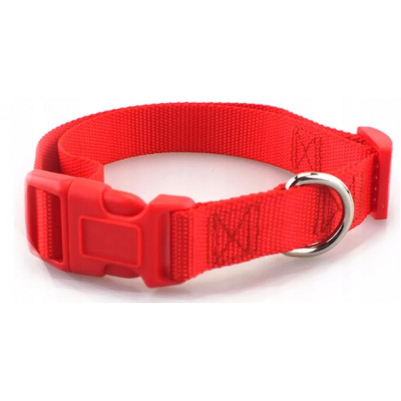 OBROŻA BASIC Regulacja 40-60 cm XL PETSTORY (Czerwony)