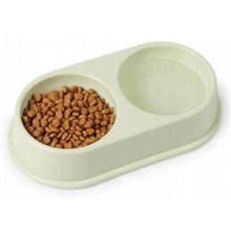 PODWÓJNA MISKA Na Pokarm Dla Psa Kota 2x 250ml PETSTORY (Szary)