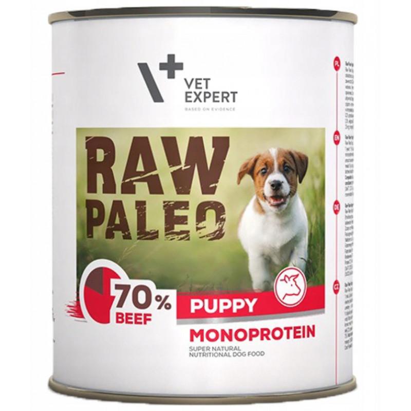 VETEXPERT RAW PALEO Puppy Monoprotein Beef WOŁOWINA 800g