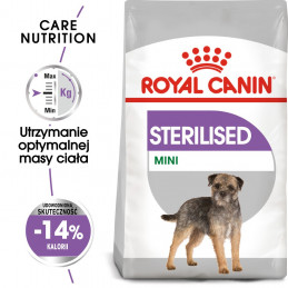 Royal Canin Care Nutrition Mini Sterilised - Karma Sucha Pies Sterylizowany, Rasy Małe 8kg