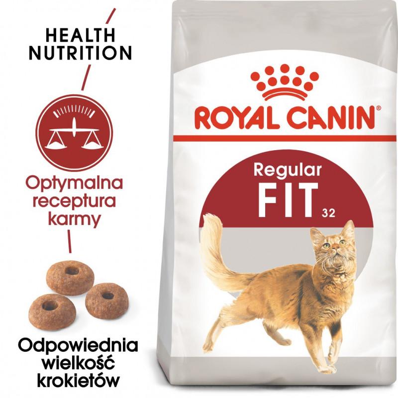 Royal Canin Regular Fit 32 Adult - Karma Sucha dla Kotów Dorosłych, Optymalna Masa Ciała 2kg