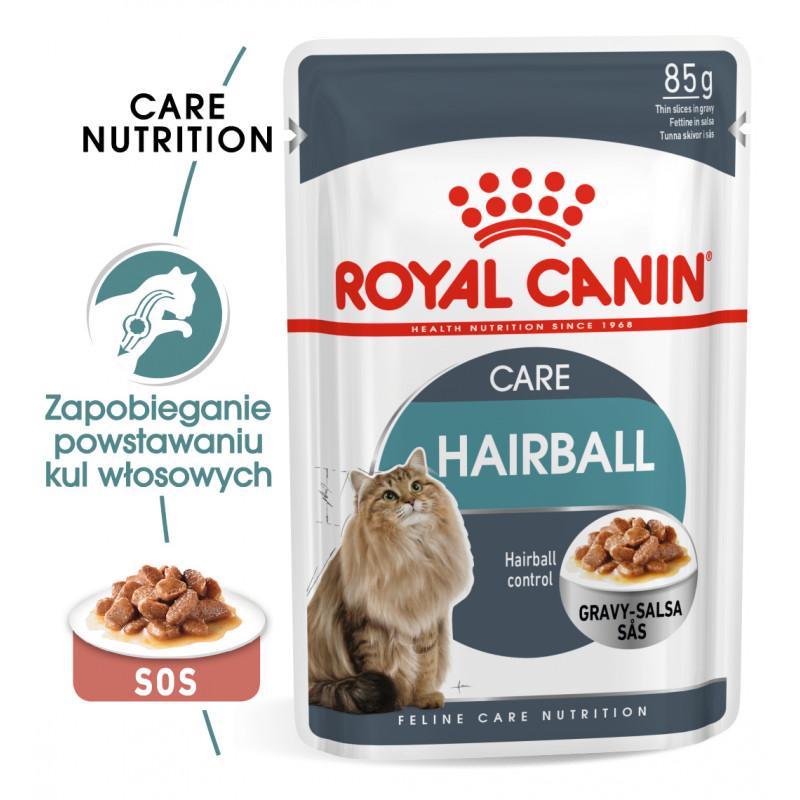 Royal Canin Hairball Care Adult - Karma Mokra w Sosie dla Dorosłych Kotów 85g