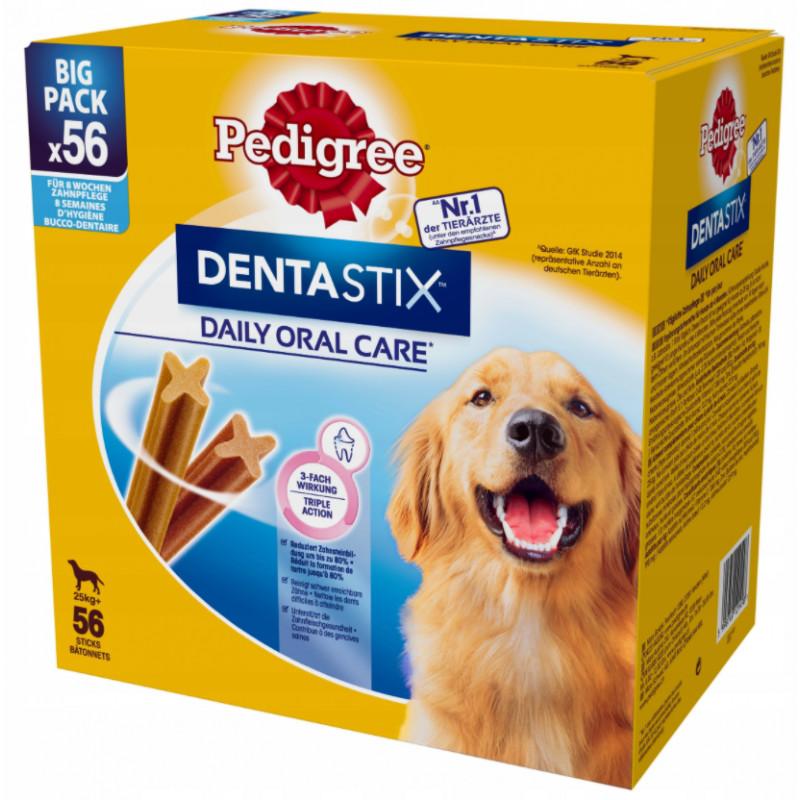 PEDIGREE DENTASTIX Przysmak Dentystyczny DUŻE RASY 56szt 8x 270g