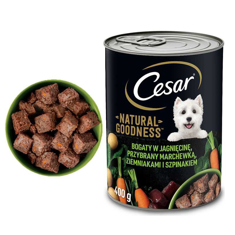 CESAR Karma dla Psa JAGNIĘCINA z Warzywami 400g