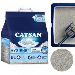 CATSAN Hygiene Plus 100% Naturalny Żwirek 5L