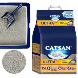 CATSAN UltraPlus Żwirek Bentonitowy ZBRYLAJĄCY 15L