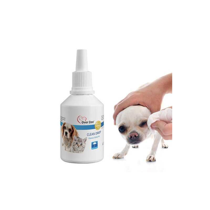 OVERZOO Clean Drop dla Psa i Kota USUWA ŚLADY ŁEZ 40ml