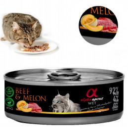 Alpha Spirit Cat WOŁOWINA Z MELONEM 85g