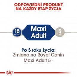 Royal Canin Maxi Adult - Karma Sucha dla Psów Dorosłych, Rasy Duże 15kg + 3kg GRATIS
