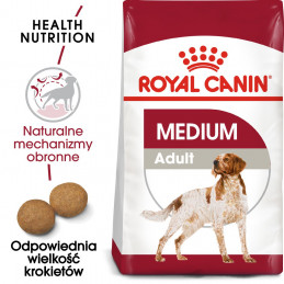 Royal Canin Medium Adult - Karma Sucha dla Psów Dorosłych, Rasy Średnie 15kg + 3kg GRATIS